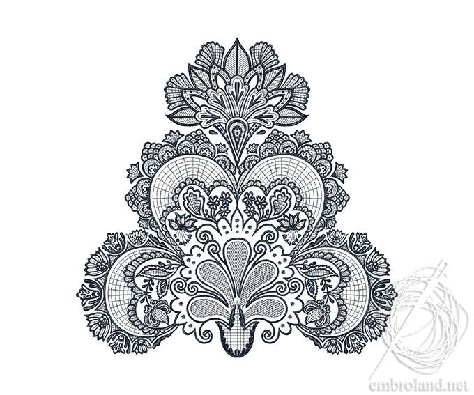 Lace Ornament Embroidery Design Pattern Online Shop Machine
