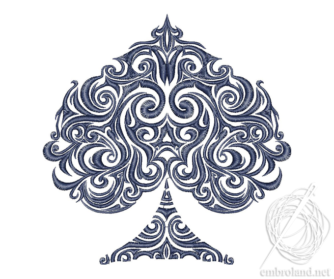 Spades Tattoo Embroidery Design Online Shop Machine Embroidery