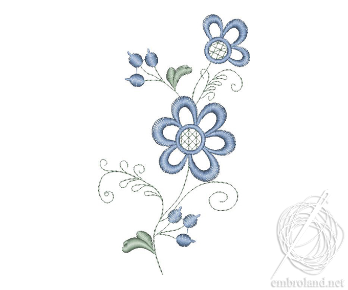 Simple Flower Embroidery Design Online Shop Machine Embroidery