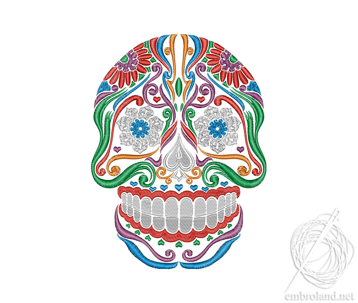 Sugar Skull Embroidery Design Calavera Online Shop Machine